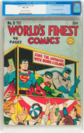 Golden Age (1938-1955):Superhero, World's Finest Comics #8 (DC, 1942) CGC VG- 3.5 Cream to off-white pages....