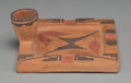 American Indian Art:Pottery, An Isleta Pottery Ashtray. ...