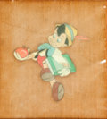 Animation Art:Production Cel, Pinocchio Production Cel Courvoisier Setup (Walt Disney, 1940)....