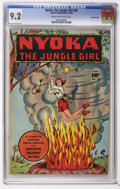 Golden Age (1938-1955):Adventure, Nyoka the Jungle Girl #20 - CROWLEY PEDIGREE (Fawcett Publications, 1948) CGC NM- 9.2 Cream to off-white pages.
