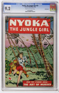 Golden Age (1938-1955):Adventure, Nyoka the Jungle Girl #18 (Fawcett Publications, 1948) CGC NM- 9.2 Cream to off-white pages.