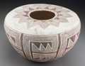 American Indian Art:Pottery, An Anasazi Black-On-White Seed Jar. c. 1100 - 1250 AD...