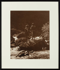 Roland W. Reed (American, 1864 - 1934) Into the Unknown: Blackfeet Indian Hunters, Glacier National Park, M