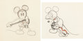 Animation Art:Production Drawing, Just Mickey/Fiddlin' Around Mickey Mouse Animation DrawingSequence of 2 (Walt Disney, 1930).... (Total: 2 )