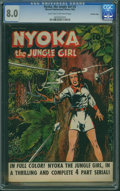 Golden Age (1938-1955):Adventure, Nyoka the Jungle Girl #2 - CROWLEY PEDIGREE (Fawcett Publications, 1945) CGC VF 8.0 Light tan to off-white pages.