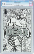 Modern Age (1980-Present):Horror, The Walking Dead #1 Wizard World New Orleans Sketch Edition (Image,2015) CGC NM/MT 9.8 White pages....