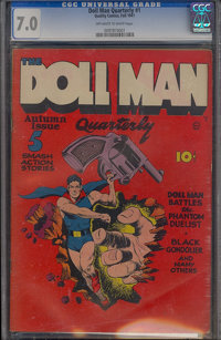 Doll Man Quarterly #1 (Quality, 1941) CGC FN/VF 7.0 Off-white to white pages