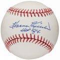 Autographs:Baseballs, Harmon Killebrew Single Signed Baseball With HoF Inscription. ...