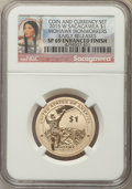 Sacagawea Dollars, 2015-W $1 Mohawk Ironworkers, Enhanced Finish, Early Release, SP69NGC. PCGS Population: (1330/558)....