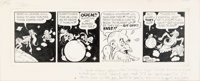 Al Capp Li'l Abner New Year's Daily Comic Strip Original Art Signed and Inscribed to Stan Freberg (United Feature