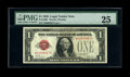 Fr. 1500* $1 1928 Legal Tender Note. PMG Very Fine 25. A very attractive example of this just plain rare star. It is an...