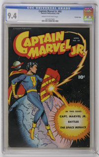 Captain Marvel Jr. #60 Crowley Copy pedigree (Fawcett, 1948) CGC NM 9.4 Cream to off-white pages. The highest-graded of...