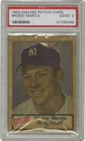 Baseball Cards:Singles (1950-1959), 1954 Dan-Dee Potato Chips Mickey Mantle PSA Good 2. Minor surfacewrinkling which does little to detract from this card's a...