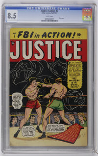 Justice Comics #7 (#1) (Atlas, 1947) CGC VF+ 8.5 White pages