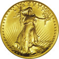 High Relief Double Eagles: , 1907 $20 High Relief, Wire Rim MS64 NGC. A splendid example of this scarce, historic, and enormously popular gold type. The...
