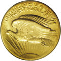 High Relief Double Eagles: , 1907 $20 High Relief, Flat Rim MS63 PCGS. Several times scarcer than its Wire Rim counterpart, the Flat Rim variant is not ...
