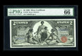 Large Size:Silver Certificates, Fr. 248 $2 1896 Silver Certificate PMG Gem Uncirculated 66 EPQ.This highly desirable design type is blessed with wide margi...