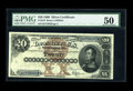 Large Size:Silver Certificates, Fr. 310 $20 1880 Silver Certificate PMG About Uncirculated 50.About 40 examples of Fr. 310 are known to exist in all grade...