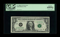 Error Notes:Doubled Third Printing, Fr. 1908-K $1 1974 Federal Reserve Note. PCGS Gem New 65PPQ.. Thisnote features a complete double printing of the third pri...