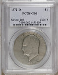 Eisenhower Dollars: , 1972-D $1 G6 PCGS. PCGS Population (1/1953). NGC Census: (0/1009). Mintage: 92,548,512. (#7410)...