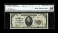 Small Size:Federal Reserve Bank Notes, Fr. 1870-L $20 1929 Federal Reserve Bank Note. CGA About Uncirculated 50.. If the center fold were a touch light, this note...