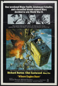 """Movie Posters:War, Where Eagles Dare (MGM, 1968). One Sheet (27"""" X 41"""") Style A. War.Starring Richard Burton, Clint Eastwood, Mary Ure, Patric..."""