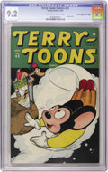 """Golden Age (1938-1955):Funny Animal, Terry-Toons Comics #43 Davis Crippen (""""D"""" Copy) pedigree (Timely,1946) CGC NM- 9.2 Cream to off-white pages...."""