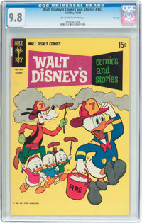 Walt Disney's Comics and Stories #337 File Copy (Gold Key, 1968) CGC NM/MT 9.8 Off-white to white pages