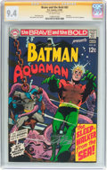Silver Age (1956-1969):Superhero, The Brave and the Bold #82 Batman and Aquaman - Signature Series(DC, 1969) CGC NM 9.4 Off-white pages....