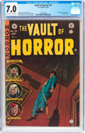 Golden Age (1938-1955):Horror, Vault of Horror #37 (EC, 1954) CGC FN/VF 7.0 Cream to off-whitepages....