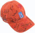 Golf Collectibles:Autographs, PGA Tour Signed Golf Hat With Tiger Woods - Including Two MastersBadges (2001 & 2002). ...