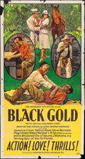 "Movie Posters:Black Films, Black Gold (Norman, 1928). Three Sheet (41"" X 77""). Black Films....."