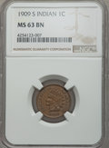 Indian Cents, 1909-S 1C MS63 Brown NGC. NGC Census: (82/86). PCGS Population: (112/77). CDN: $1,000 Whsle. Bid for problem-free NGC/PCGS ...