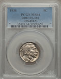 1936 5C Doubled Die Obverse, FS-101, MS64 PCGS. (FS-018.7). PCGS Population: (18/7). NGC Census: (15/7). MS64