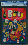 Silver Age (1956-1969):Humor, Bunny #8 - FILE COPY (Harvey, 1969) CGC NM+ 9.6 White pages.