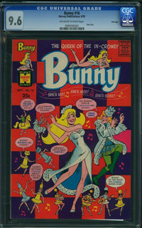 Bunny #16 - FILE COPY (Harvey, 1970) CGC NM+ 9.6 Off-white to white pages