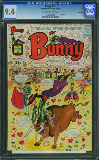 Bunny #17 - File Copy (Harvey, 1970) CGC NM 9.4 Off-white to white pages