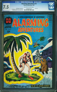 Alarming Adventures #3 (Harvey, 1963) CGC VF- 7.5 Off-white to white pages