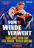 "Movie Posters:Academy Award Winners, Gone with the Wind (MGM, R-1962). German A1 (23.25"" X 33""). AcademyAward Winners.. ..."