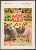 "Movie Posters:Comedy, The Dancing Masters (20th Century Fox, 1945). First Post-War Release Belgian (12.25"" X 16.75""). Comedy.. ..."