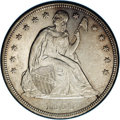 Seated Dollars: , 1854 $1 AU58 NGC. Although this date shows a mintage figure of33,140 pieces, which is highe...