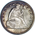 Proof Seated Dollars: , 1858 $1 PR63 NGC. The 1858 Seated dollar is one of the mostrespected and highly sought-after...
