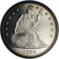 Proof Seated Dollars: , 1859 $1 PR64 NGC. Of the 800 proof Seated Dollars that thePhiladelphia Mint prepared in 1859...