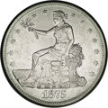 1875-S/CC T$1 --Improperly Cleaned--NCS. AU Details. FS-012.5. Type One Reverse. The more obvious of the two 1875-S/CC v...
