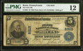 National Bank Notes:Pennsylvania, Bruin, PA - $5 1902 Plain Back Fr. 600 The First NB Ch. # 8919. ...