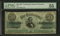 Confederate Notes:1862 Issues, T50 $50 1862 PF-1 Cr. 350.. ...