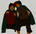 Animation Art:Production Cel, The Lord of the Rings Sam and Frodo Production Cel (UnitedArtists/Ralph Bakshi, 1978). ...