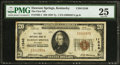 National Bank Notes:Kentucky, Dawson Springs, KY - $20 1929 Ty. 1 The First NB Ch. # 11548. ...