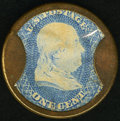 Encased Postage: , HB-17 EP-3 1¢ Take Ayer's Pills Very Fine.. ...