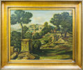 Paintings, A Carthigian Ruins . Oil and Mixed Media on Canvas. Early 21st Century, signed Eric Reed lower right, in gilt frame. 62-...